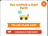 Yellow Plane Kart