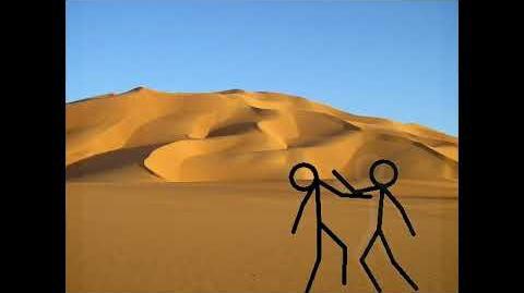 STICK MAN FIGHT IN DESERT