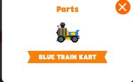 Blue train kart
