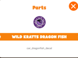 Wild Kratts Dragon Fish Sticker