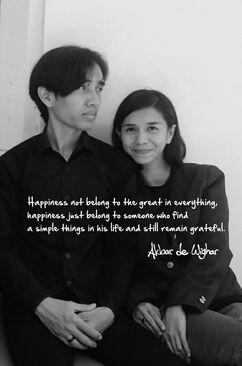 Akbar de Wighar and His Wife fashion designer Chika Riznia in Happiness