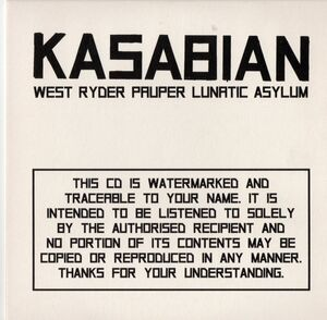 West Ryder Pauper Lunatic Asylum Album Promo CD (PARADISE56) - 1