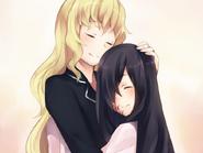 Lilly comforts Hanako