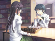 Shizune takes a move
