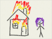 Hanako's past child drawing