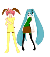 Teto and Miku as wallace and Gromit