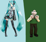 Wallace and Hatsune Miku