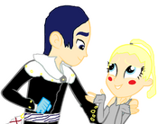 Yusuke and Katie in Phantom thief version