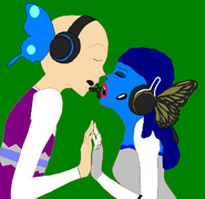 Emily The Corpse Bride and Wallace Manget