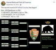 2014 FAT BEAR TUESDAY 2014.09.30 10.37 KNP&P FB POST CONTEST PROGRESS UPDATE w UPDATED BRACKET