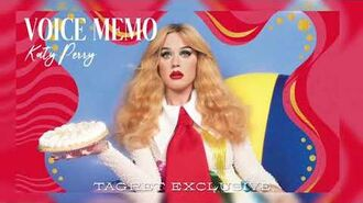Katy perry - voice memo target exclusive