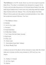 The katheryne track list