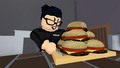 Ocra is about to eat her cheeseburgers.png