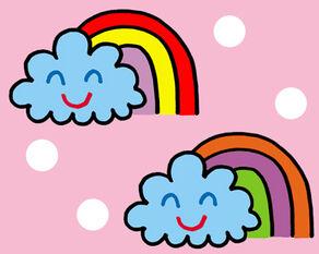 Rainbowz wallpaper desktop