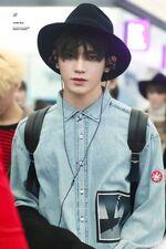 Taeyong at the airport