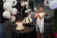 Zendaya 21st birthday KCU Set