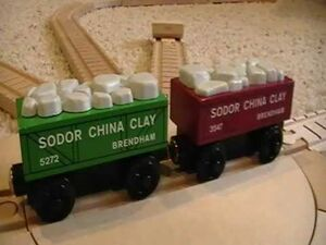 Sodor China Clay Trucks in a ThomasWoodenRailway Discussion