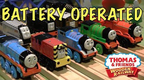 Thomas Wooden Railway Battery Operated Engines Mega Review ThomasWoodenRailway Discussion 66
