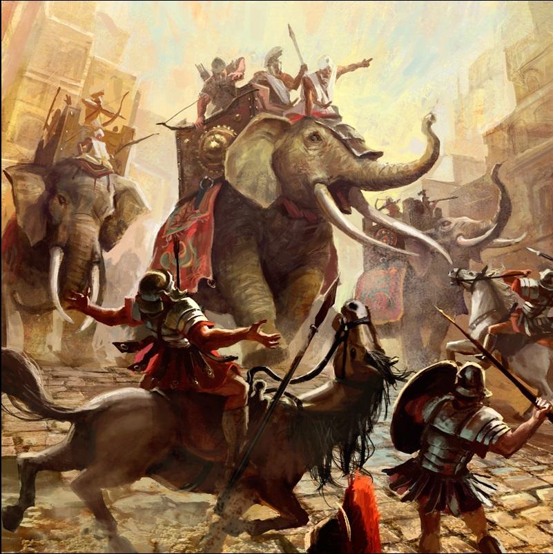 Elephantscharging