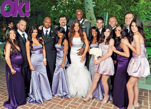 File Gallery Enlarged Khloe Kardashian Lamar Odom Wedding Ok Magazine 1007090 Kardashians