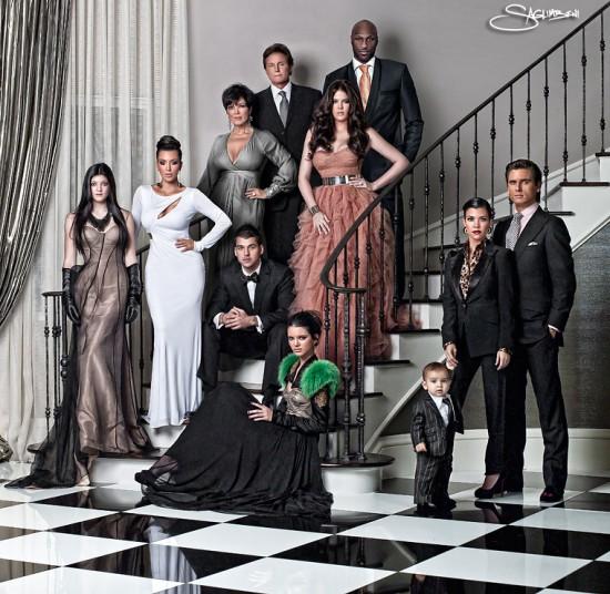 Good Kim Kardashian Kardashian Family Christmas Card.jpeg