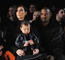 Kim with kanye and north