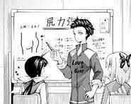 Suzuho lecturing Nozomi and Sayaka