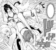 Kusakai, Fujisaki, Miyata attack Hanayama