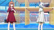 Nanase arguing with Sayaka