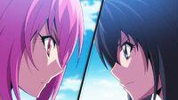 Usagi fights Nozomi