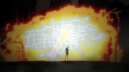 Zapp burning the half demigod with Seventh Hell