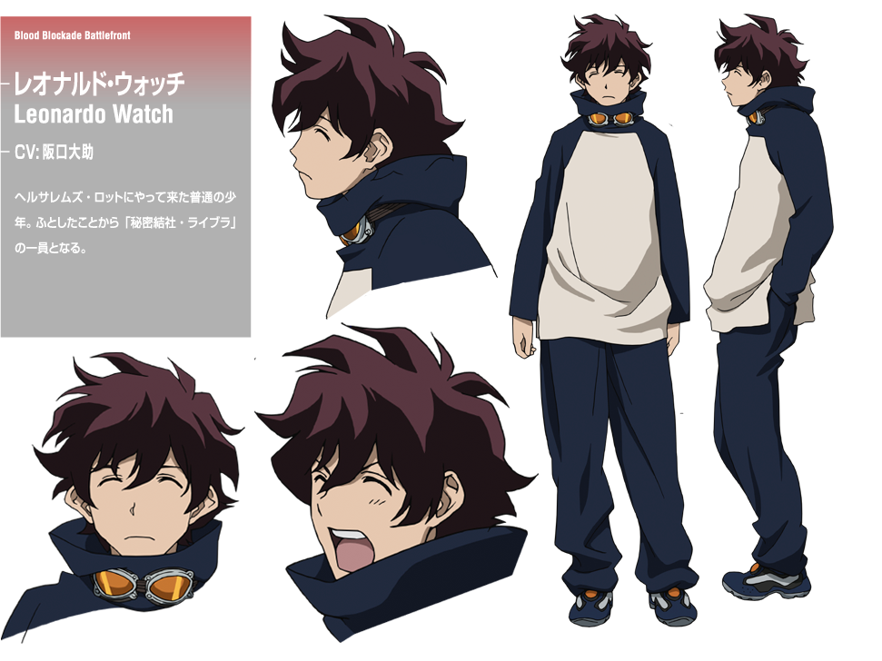 Anime Boy Character Design : Image leonard design blood blockade battlefront kekkai