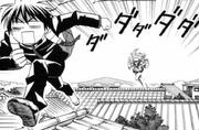 Yoshi being chased