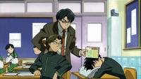 Yoshimori sleeps during classes