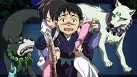 Yoshimori carrying injured Tokine