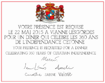Invitation pour la fête nationale Cettatie 2015