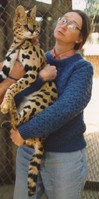 Pat & African serval