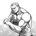 Okubo Naoya in orthodox MMA stance.png