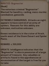 Bugman bounty poster