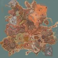 Форт Мираж. Расположение на карте