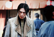 Aoshi in great fire