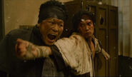 Sano fights inji