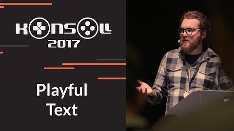 Konsoll 2017 Jake Elliot - Playful Text