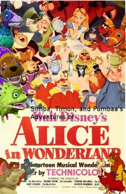 Simba, Timon, and Pumbaa's Adventures of Alice in Wonderland poster