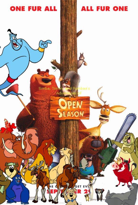 Simba, Timon, and Pumbaa's Adventures of Open Season