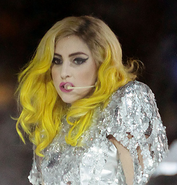 Lady Gaga yellow hair