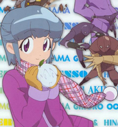 Momoka holding a Fuyuki snowball