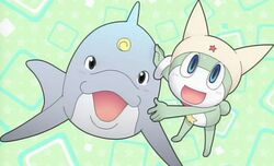Shin Keroro and A dolphin