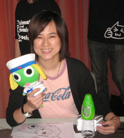 Miss Chow at a convention