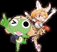 Keroro and serval from keroro friends